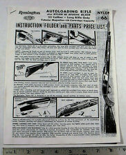 REMINGTON GUN OWNER'S MANUAL - MODEL:  NYLON 66 AUTOLOADING 22 RIFLE