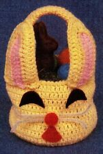 CUTE Easter Bunny Basket/Decor/CROCHET PATTERN INSTRUCTIONS ONLY