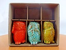 Pier 1 Imports Owl Photo Holder set of 3 /H4