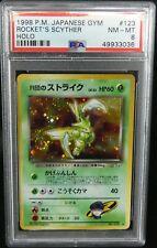 Rocket's Scyther 123 Gym Holo Japanese Pokemon Card PSA 8 NM-Mint