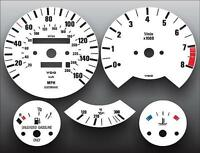 1988-1991 BMW M3 E30 3 Series Dash Instrument Cluster White Face Gauges