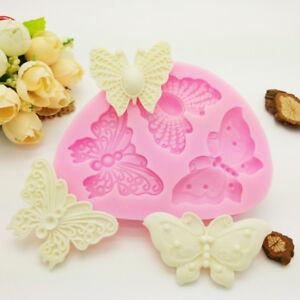Butterfly Silicone Fondant Mould Cake Flying Animals Chocolate Baking Icing Mold