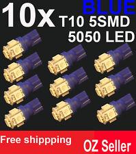 10X T10 5SMD 5050 LED BLUE for Car Side light Number plate Bulb DC 12V wedge