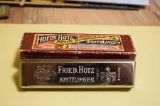 FRIEDR. HOTZ. ESETRA METALL STIMMEN C - MUNDHARMONIKA.  IN ORIGINAL-BOX.