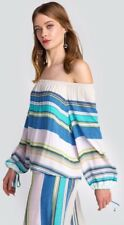 Wildfox Couture♡Off Shoulder Stripe Top♡in Multi♡S NWT $138♡Impossibly Chic♡NYFW