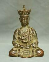 "3.2 ""temple de bouddhisme bronze  Tangseng Ksitigarbha Boddhisattva Statue"