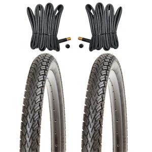 2 Stk. Fahrradreifen 14 Zoll Reifen KUJO 14x1.75   47-254 mit 2x Schlauch mit AV