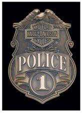 "Harley-Davidson® Bar & Shield #1 Police Die-Cut Tin Plate Sign 17""x11.5"" 2010161"