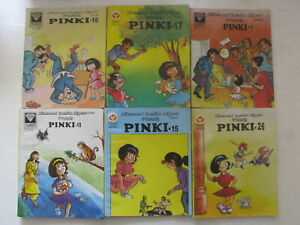 PINKI ENGLISH LOT OF 9 COMICS Diamond India-107c