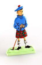 Figurine métal Tintin Tintin dans L'île noire (bas relief)