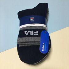 FILA Men's Sports Casual Quarter Socks 3Pairs White Gray Navy Cotton KOREA
