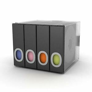 Desk Organizer CD DVD Binder Media Disk Storage Case Plastic 96 CD's Black New