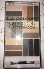 L.A. Colors 18 Color Base Crease Liner Eyeshadow Glam Palette in DOWNTOWN BROWN