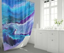 Dreamy Shower Curtain blue shower curtain ocean bath mat blue bathroom decor
