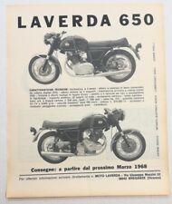 Pubblicità epoca 1967 LAVERDA 750 MOTO MOTOR old advertising publicitè werbung