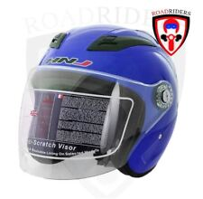 HNJ 518 Open Face Half Face Helmet - BLUE