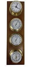 Vintage Barigo Captain's Weather Station Baro Thermo, Hygro, Barometer, Clock