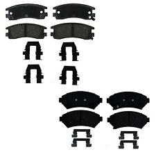 Front and Rear Ceramic Brake Pad Set Kit ACDelco For Pontiac Chevy Oldsmobile