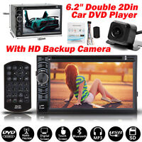 "New 2 Din HD 6.2"" Car Stereo DVD CD MP3 Player Radio USB/SD/FM+Backup Camera US"