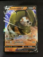 Pokemon Sandaconda V 108/192 Holo Ultra Rare Rebel Clash Near Mint