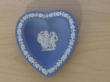 Rare Vintage Wedgwood Blue Jasper Heart Pin Plate Greek