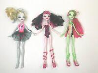 Mattel Monster High Beach Beasties Lagoona,  Draculaura, Venus McFlytrap Dolls
