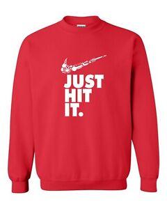 Nike Just Hit Funny Marijuana Weed Pot 420   Heavy Blend™ Crewneck Sweatshirt