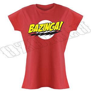 Bazinga The Big Bang Theory Inspired Sheldon TV Gift Funny Ladies T-Shirts S-XXL
