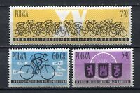35691) Poland 1962 MNH Peace Bicycle Race 3v