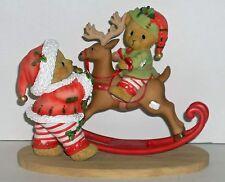 Cherished Teddies Jeffrey & John Figurine New # 4040462 Santa's Workshop #8 Elf