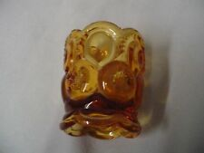 """Moon And Star Toothpick Amber 2.5"""" Tall 2"""" Across"""