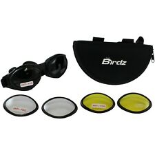 GOGGLES FOR MOTORCYCLE RIDING HAS 3 PAIRS OF LENS 1 CLEAR 1 SMOKE 1 YELLOW LENS
