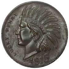 1915 PANAMA PACIFIC INTERNATIONAL EXPOSITION LUCKY PENNY INDIAN HEAD 73 MM MEDAL