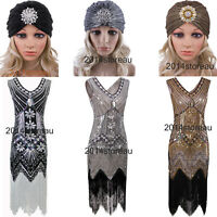 1920s Dress Flapper Costumes Great Gatsby Evening Gowns Fringe Dresses Plus Size