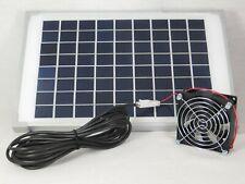10 W Solar Gewächs Garten Haus Ventilator Lüfter Belüfter Belüftung Gebläse NEU