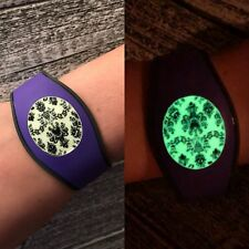 Disney Magic Band 2 Decal Stickers - Haunted Mansion Wallpaper GLOW IN THE DARK