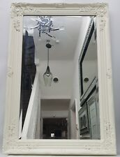 White Cream Large French Style Mirror Art Deco Living Room Hallway Wall Hung