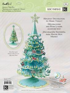 "Swell Noel Advent Tree Kit K & Company Christmas Crafts Blue / Green 20"""