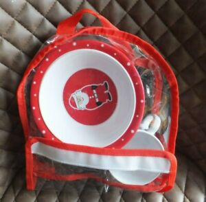 John Lewis Childs Christmas cup and bowl in a bag, Santa, Red & White