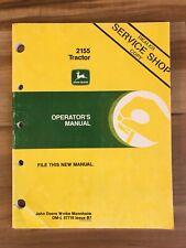 Oem John Deere 2155 Tractor Service Shop Operators Manual book