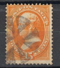 US Scott  # 141  VF used from the 1870 series with grill , rare