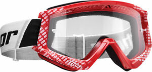 Thor MX Motocross YOUTH Combat Goggles (Red/White) Youth
