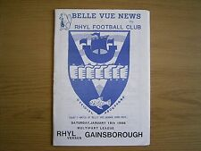 RHYL v GAINSBOROUGH TRINITY Northern Premier League 1985-86