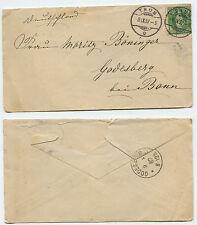 21945-MINI-RICEVUTA-Svizzera - TONNO 8.9.1887 dopo Godesberg presso Bonn