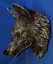 NEMESIS NOW WOLF HEAD WALL PLAQUE - WILDLIFE ANIMAL FIGURE MODEL OR ORNAMENT