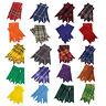 Scottish Kilt Hose Sock Flashes Garter Pointed Various Tartans Highland Wear