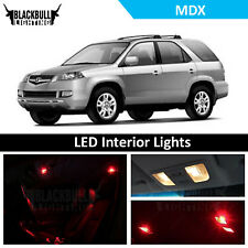 Red LED Interior Lights Accessories Package Kit fits 2001-2006 MDX  13 BULBS