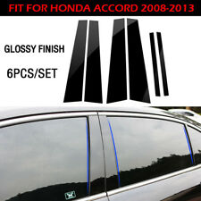 WINDOW PILLAR POSTS TRIM COVER MOLDING BRIGHT BLACK FOR HONDA ACCORD 2008-2013