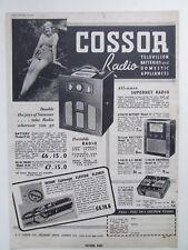 COSSOR PORTABLE RADIO ORIGINAL OLD VINTAGE  ADVERT DATED 1939 21cm x 31cm