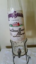 Vintage Galliano Ditta Arturo Vaccari Glass Liquor Dispenser Bottle